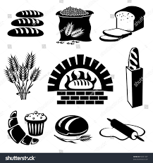 margarita silhouette set vector silhouette icons bread pastry stock vector 50331337