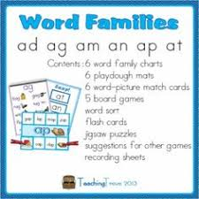 word families word work for short a charts playdough mats