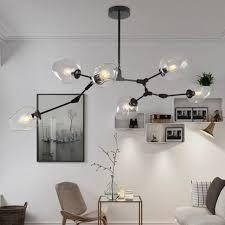 Modern Design Chandelier Loft Industrial Chandeliers Globe Glass Lights Modern Minimalist