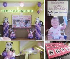 panda bear theme balloon decoration package at hannah u0027s party
