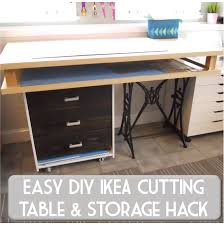 sew at home mummy diy fabric cutting and craft table ikea rast hack