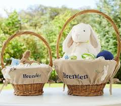 monogrammed baskets bunny easter basket liners pottery barn kids