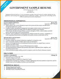 resume format for government federal government resume format sle of government resume