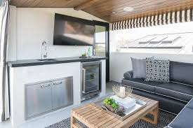 Outdoor Tv Cabinets For Flat Screens by Outdoor Tv And Firpelace Transitional Deck Patio Brown