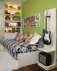 bedroom attractive green red black and white teenage bedroom