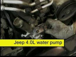 jeep wrangler water leak jeep 4 0l water replacement how to diy
