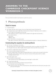 cambridge checkpoint science workbook 3 answers catalysis