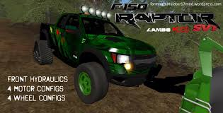 Ford Raptor Farm Truck - fs17 raptor svt hydraulic crawler kryptek by lambo v1 1 farming