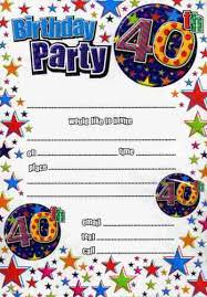 40th birthday invitations templates birthday invitations