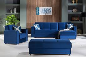 Sectional Sofa And Ottoman Set by Elegant Roma Navy Sectional Chair U0026 Ottoman Set By Sunset