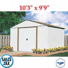 Shed Backyard Garage Garden 10 X10 Outdoor Storage Building Shed Backyard Metal