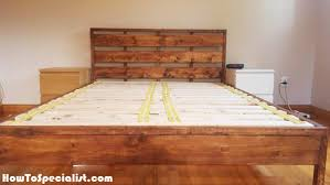 diy queen platform bed with headboard howtospecialist how to