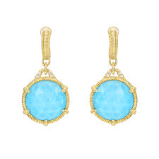 judith ripka earrings judith ripka eclipse turquoise white quartz doublet drop