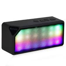 led light bluetooth speaker mini portable wireless bluetooth speaker fm radio aux tf card with