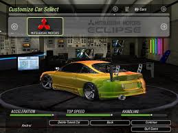 mitsubishi eclipse tuned need for speed underground 2 mitsubishi eclipse gsx 95 drft nfscars
