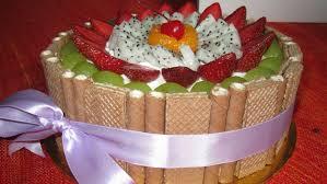 madeira lemon cake with fresh cut fruits on top cupcake envy