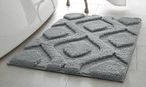 Silver Bath Rugs Plush Geometric Mia Bath Rugs Groupon
