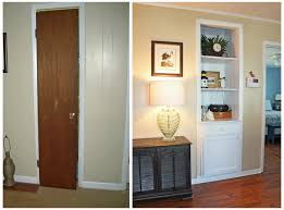 Diy Bookcase Door Beach House Built In Before And After Photos Built In Shelf From
