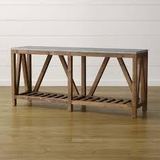 crate and barrel farmhouse table bluestone console table reviews crate and barrel