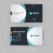 creative and clean vector business card template royalty free