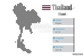 thailand vector map vector thailand map and info metallic pixel design stock photo