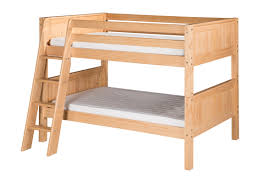 Low Headboard Beds by Low Bunk Bed Angle Ladder Panel Headboard Natural