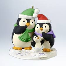 baby keepsake ornaments hallmark 2012 baby makes three keepsake ornament