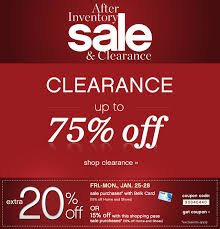 up to 75 clearance during our after inventory sale at belk