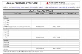 logical framework template u2013 planning monitoring evaluation