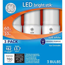 ge lighting 32282 led bright stik 10 watt 60 watt replacement