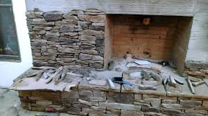 stack stone fireplace with stone grinding wheel youtube