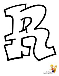 letter r graffiti