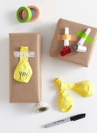 yellow wrapping paper diy 4 ways to fancy up plain brown gift wrap shari s berries