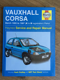 mint condition vauxhall corsa petrol haynes manual 1993 to 1997 k