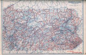Pennsylvania County Maps by Pennsylvania In Old Road Atlases 1921 1925