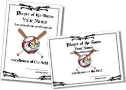 free printable baseball certificate templates
