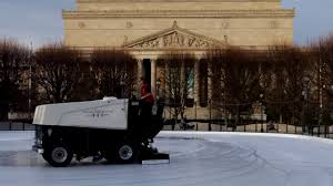 zamboni machine at the nga sculpture garden ice rink