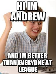 Andrew Meme - hi im andrew first day on the internet kid meme on memegen