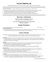 Experienced Resume Samples 28 Resume Sample For Nurses With No Experience Registered