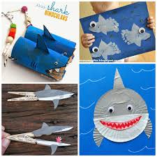 non scary shark crafts for to create crafty morning