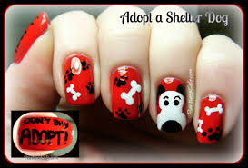 adopt a shelter dog nail art and doggie spam pointless cafe