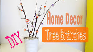 diy home decor tree branches youtube