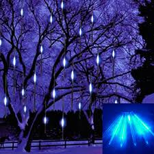 hang led snowfall meteor light wedding blue