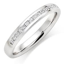 half ring platinum half eternity diamond wedding ring 0007300