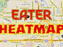 Chicago Red Line Map by Get Your Eggs On The Eater Chicago Brunch Heat Map