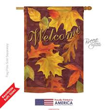 fall leaves house flag u0026 more garden flags at flagsforyou com