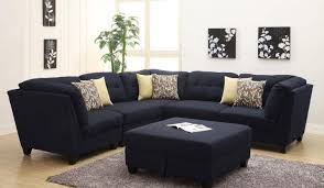 Microfiber Sectional Sofa Black Microfiber Small Sectional Sofa With Reversible Chaise