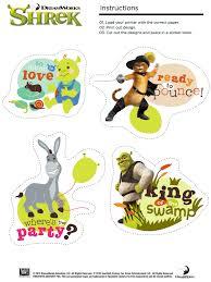 free printable shrek stickers king swamp printable