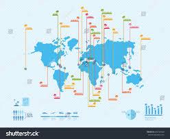 australia world map location infographics world map location beaches hawaii stock vector
