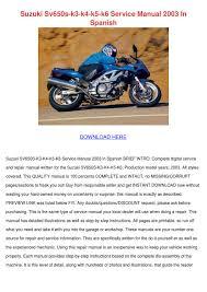 suzuki sv650s k3 k4 k5 k6 service manual 2003 by trudie covalt issuu